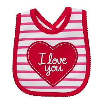 Carter's® Baby Girls' White/Red I Love You Bib
