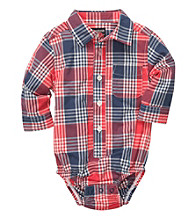 OshKosh B'Gosh® Baby Boys' Red/Blue Plaid Woven Bodysuit