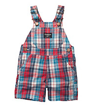 OshKosh B'Gosh® Baby Boys' Red/Blue Plaid Poplin Shortall
