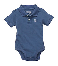 OshKosh B'Gosh® Baby Boys' Blue Short Sleeve Polo Bodysuit