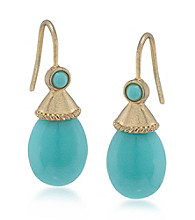 Carolee® Blue Skies Turquoise Drop Pierced Earrings