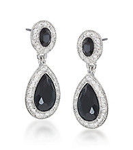 Carolee® Simply Jet Double Drop Earrings