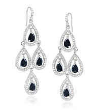 Carolee® Simply Jet Chandelier Earrings