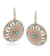 Carolee® Blue Skies Large Circle Drop Pierced Earrings