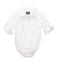 OshKosh B'Gosh® Baby Boys' White Long Sleeve Woven Bodysuit