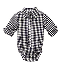OshKosh B'Gosh® Baby Boys' Navy Gingham Woven Bodysuit