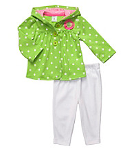 Carter's® Baby Girls' Green/White 2-pc. Polka-Dot Cardigan Set