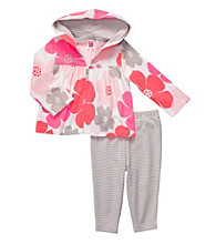 Carter's® Baby Girls' Pink/Grey 2-pc. Floral Cardigan Set