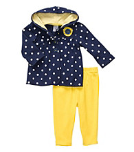 Carter's® Baby Girls' Navy/Yellow 2-pc. Polka-Dot Cardigan Set