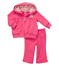 Carter's® Baby Girls' Bright Pink 2-pc. Shirring Cardigan Set