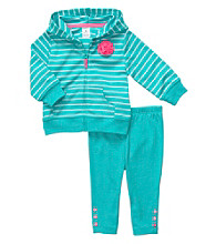 Carter's® Baby Girls' Turquoise 2-pc. Striped Cardigan Set