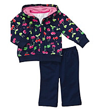 Carter's® Baby Girls' Navy 2-pc. Cherry Print Cardigan Set