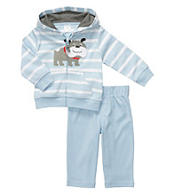 Carter's® Baby Boys' Blue Striped 2-pc. Dog Cardigan Set