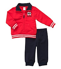 Carter's® Baby Boys' Red 2-pc. Sport Logo Cardigan Set