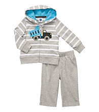 Carter's® Baby Boys' Grey/White Striped 2-pc. Cardigan Set