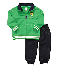 Carter's® Baby Boys' Green 2-pc. Monster Cardigan Set
