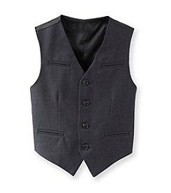 Calvin Klein Boys' 8-20 Charcoal Fine Line Vest