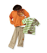 Nannette® Boys' 2T-7 Orange 3-pc. Wild Safari Set