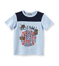 Ruff Hewn Boys' 2T-7 Bell Blue Short Sleeve Graphic Tee