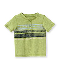 Ruff Hewn Boys' 2T-7 Short Sleeve Chest Stripe Graphic Henley