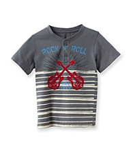 Ruff Hewn Boys' 2T-7 Concrete Short Sleeve Striped Graphic Henley