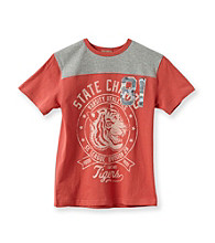 Ruff Hewn Boys' 8-20 Coral Bloom Short Sleeve Graphic Tee