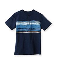 Ruff Hewn Boys' 8-20 Short Sleeve Chest Stripe Graphic Henely