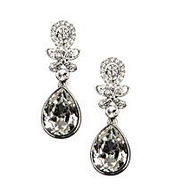 Givenchy® Crystal Clip Drop Earrings