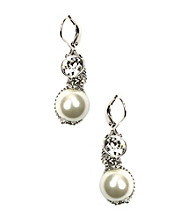 Givenchy® White Pearl Earrings