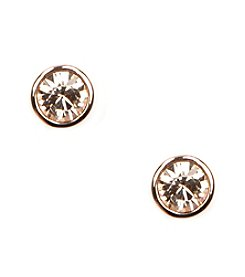 Givenchy® Rosegold Stud Earrings