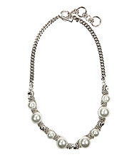 Givenchy® White Pearl Collar Necklace
