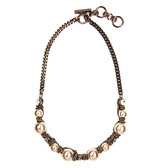 Givenchy Blush Pearl Collar Necklace