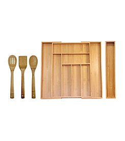 Oceanstar 5-pc. Bamboo Expandable Drawer Utensil Organzier Set