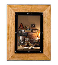 Burnes of Boston® Natural Wood with Bolted Metal Frame