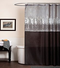 Lush Decor Night Sky Black and Grey Shower Curtain