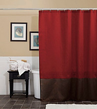 Lush Decor Prima Red Shower Curtain
