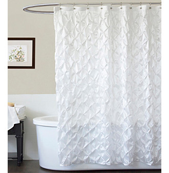Product: Lush Decor Quartet White Shower Curtain