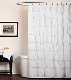 Lush Decor Ruffle White Shower Curtain