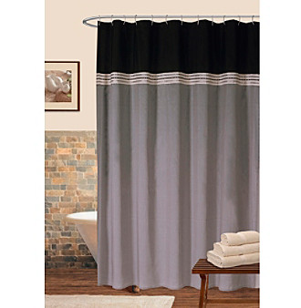 Living Room Curtains Bed Bath And Beyond Black and Gray Fabric Shower