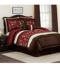 Cocoa Flower 8-pc. Comforter Set by Lush Decor