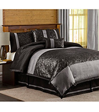 Metallic Animal 6-pc. Black Comforter Set by Lush Decor
