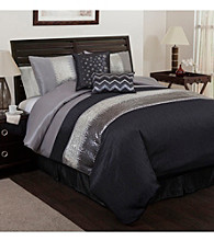 Night Sky 6-pc. Black and Grey Comforter Set by Lush Decor