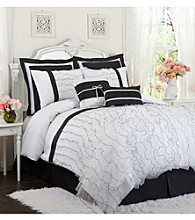 Romana 4-pc. Black and White Comforter Set by Lush Decor