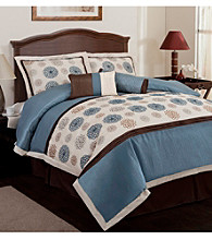 Tender Blossom 6-pc. Blue Comforter Set by Lush Decor