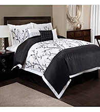 Tree Branch 6-pc. Black and White Comforter Set by Lush Decor
