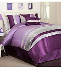 Jewel Purple Comforter Set by Lush Decor