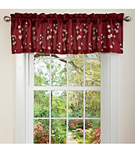 Lush Decor Cocoa Flower Valance