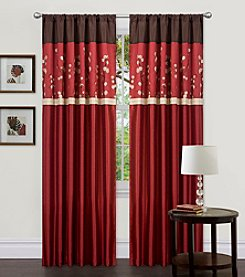 Lush Decor Cocoa Flower Window Curtain Set