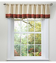 Lush Decor Hester Red Valance