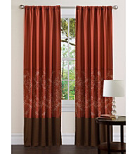 Lush Decor Hester Red Window Curtain